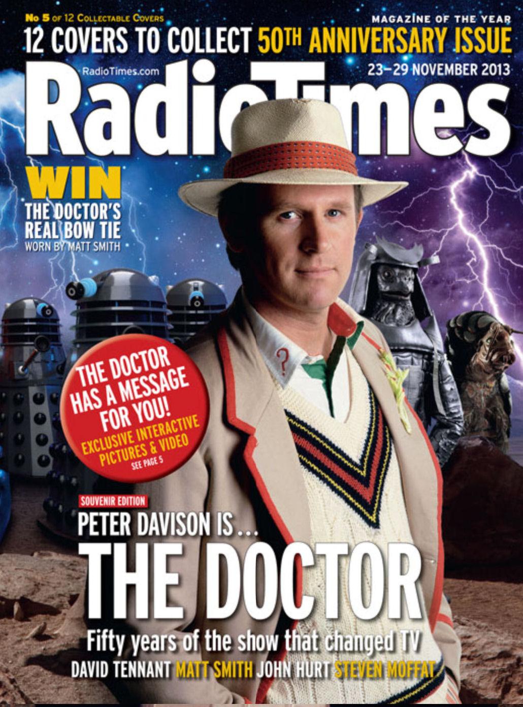 Radio times 50th anniversary covers planet mondasplanet for Anniversary magazine
