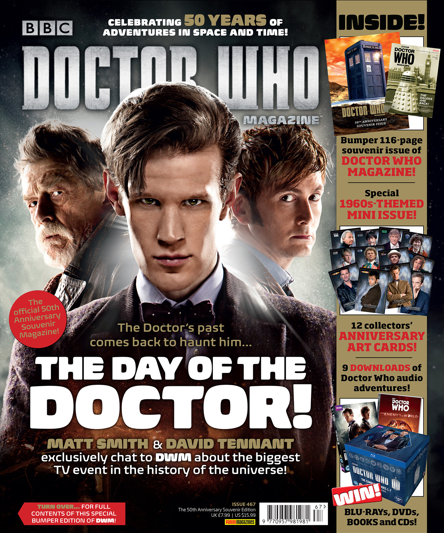 Doctor who magazine 467 anniversary issue planet for Anniversary magazine